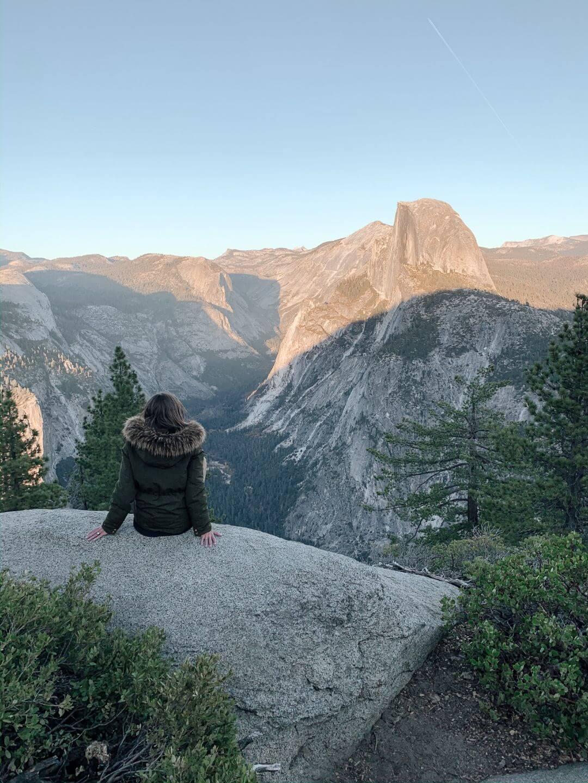 Vue du Half Dome à Yosemite