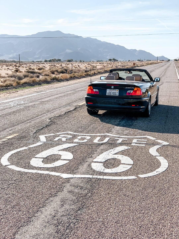 La Route 66 qui traverse les Etats-Unis
