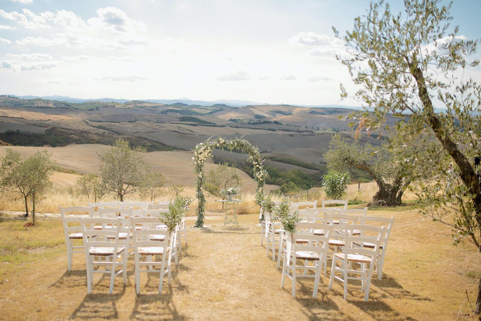 Le mariage à l'américaine en Toscane