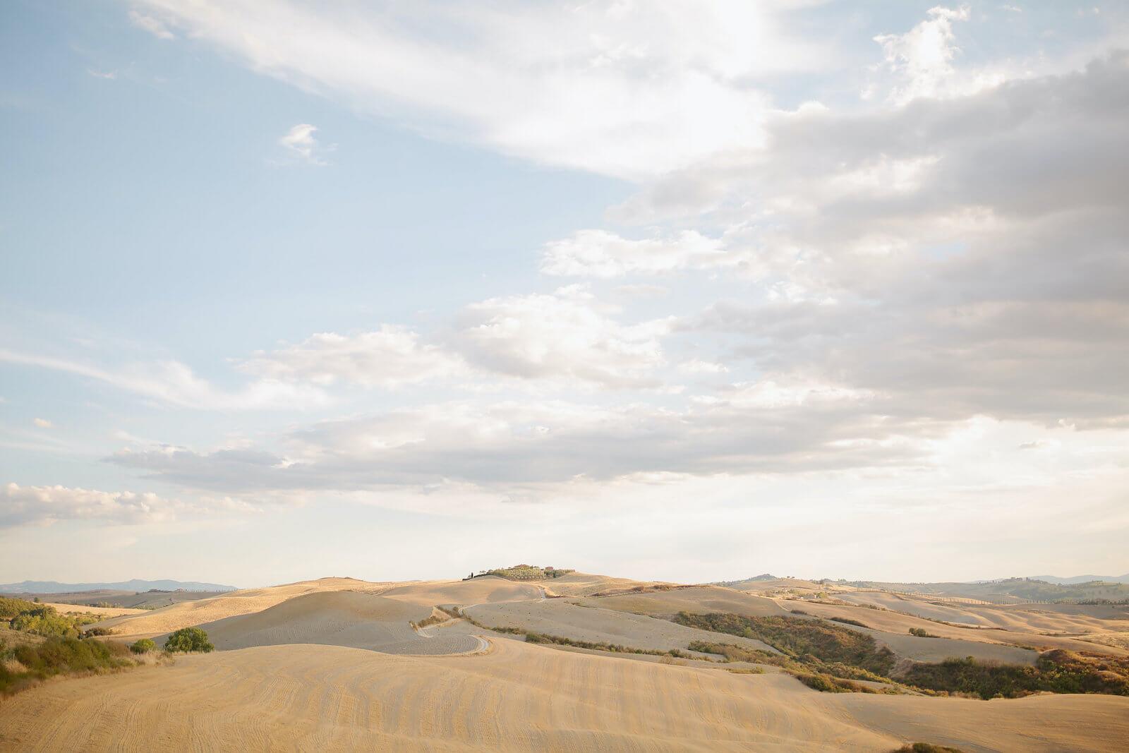 Les vues sublimes en Toscane