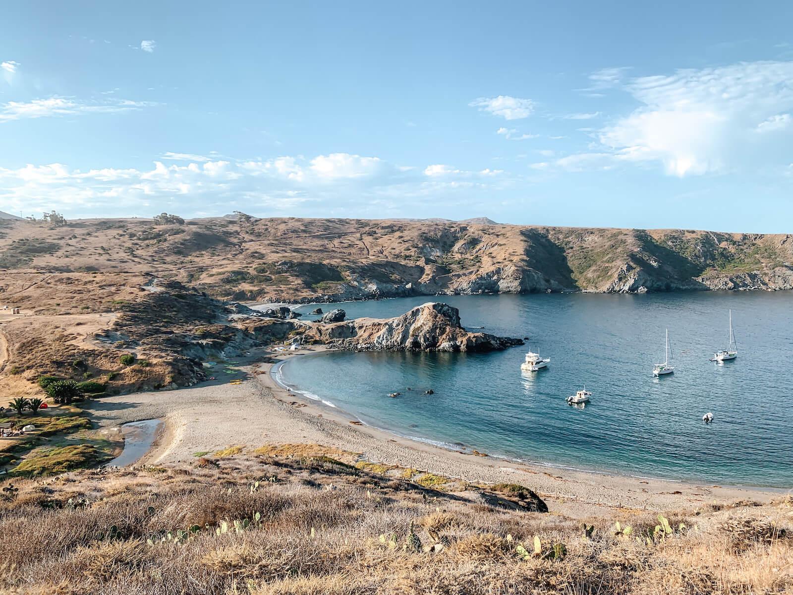 Camper à Little Harbor Catalina Island