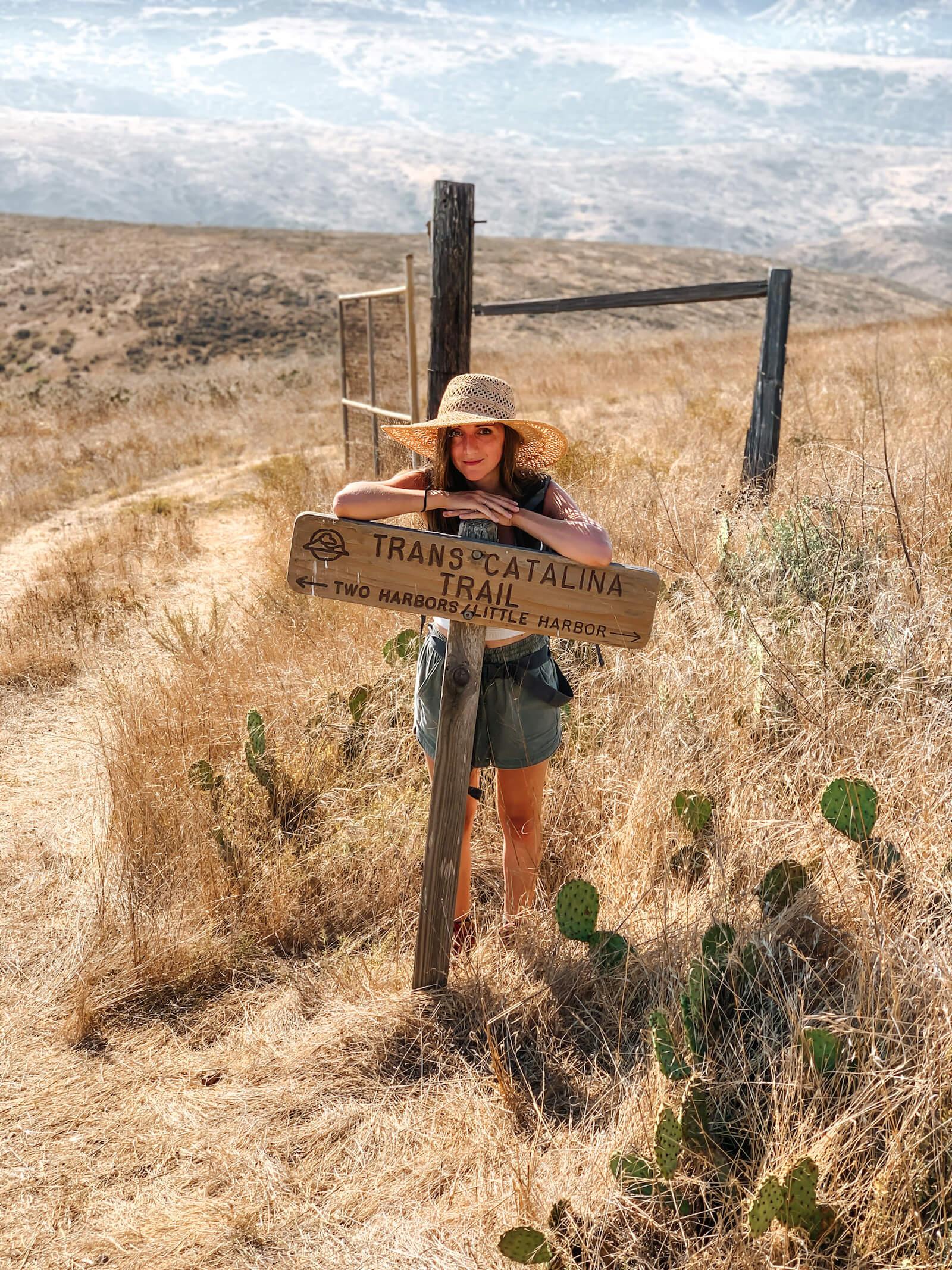Signe sur la Catalina Island Trail