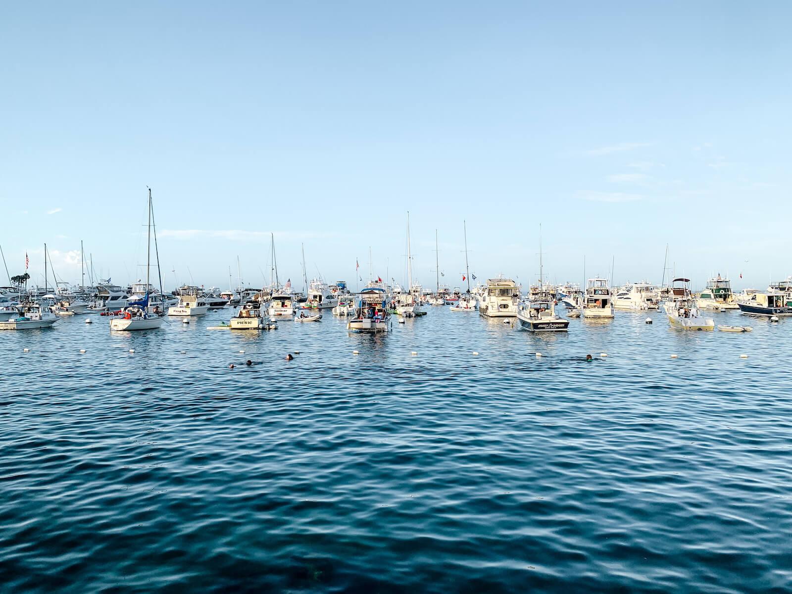 Les bateaux à Avalon Catalina Island