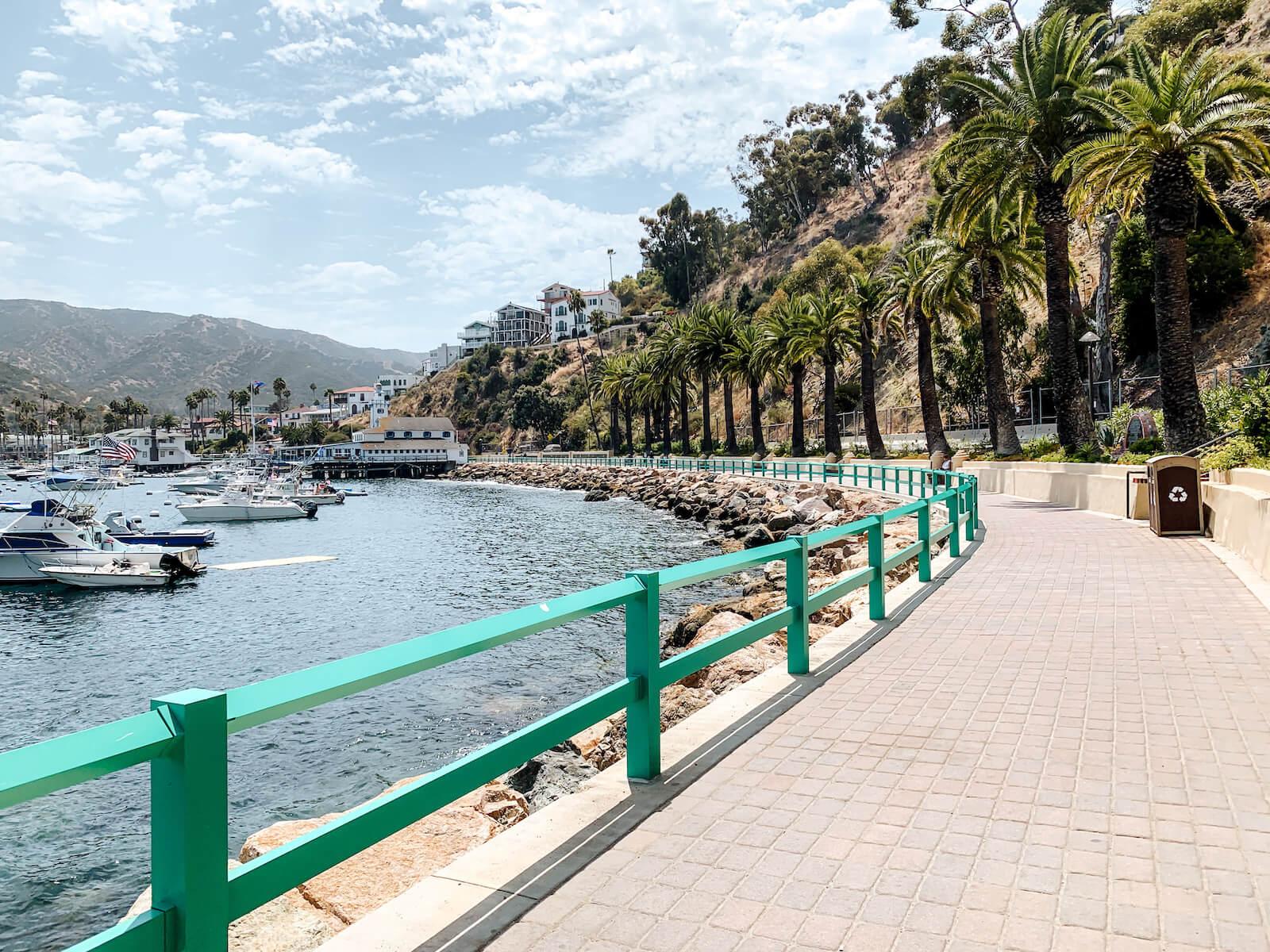 La promenade à Avalon sur la Catalina Island