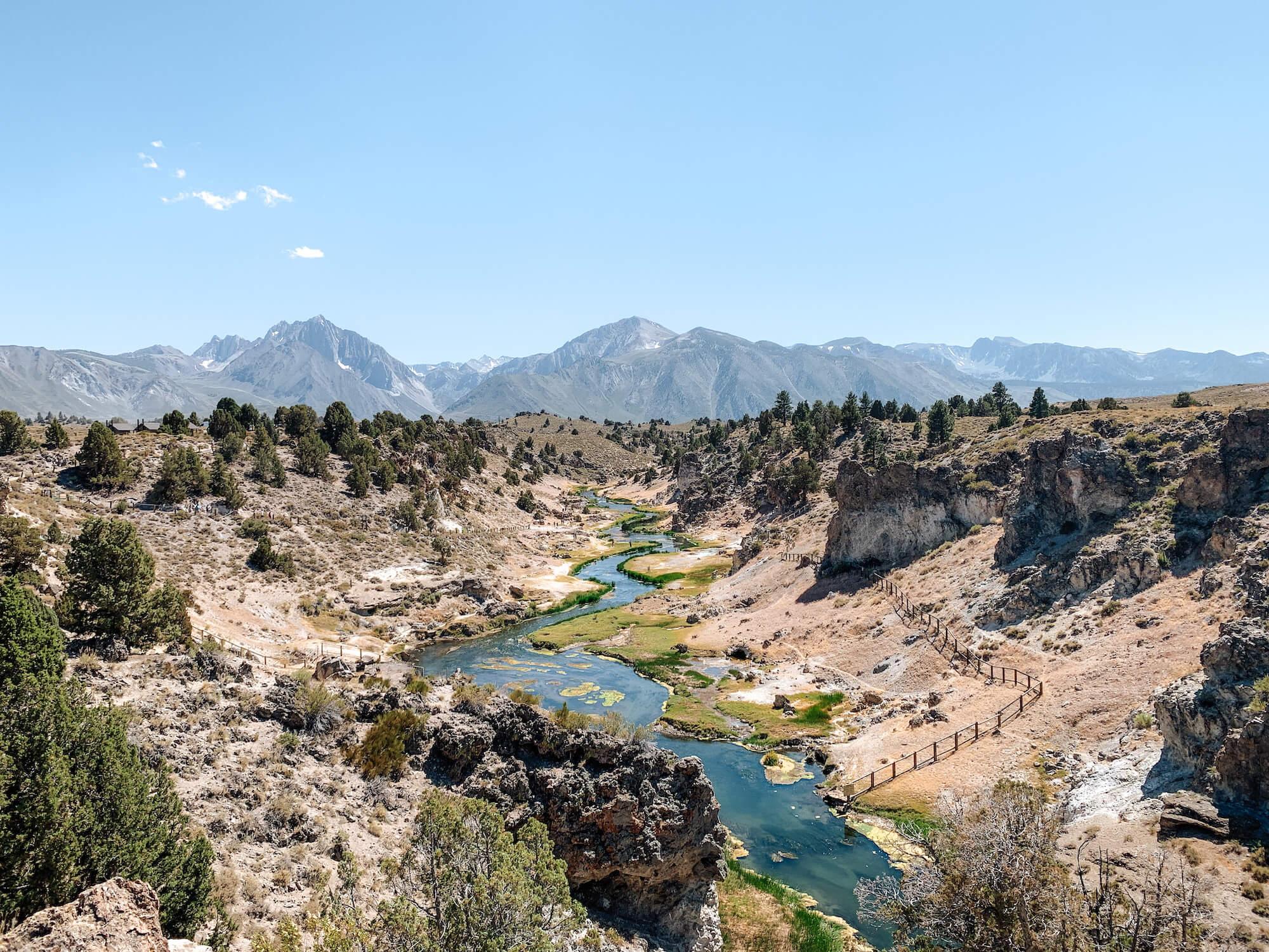 Aux alentours de Yosemite National Park - Hot Creek Geological Site