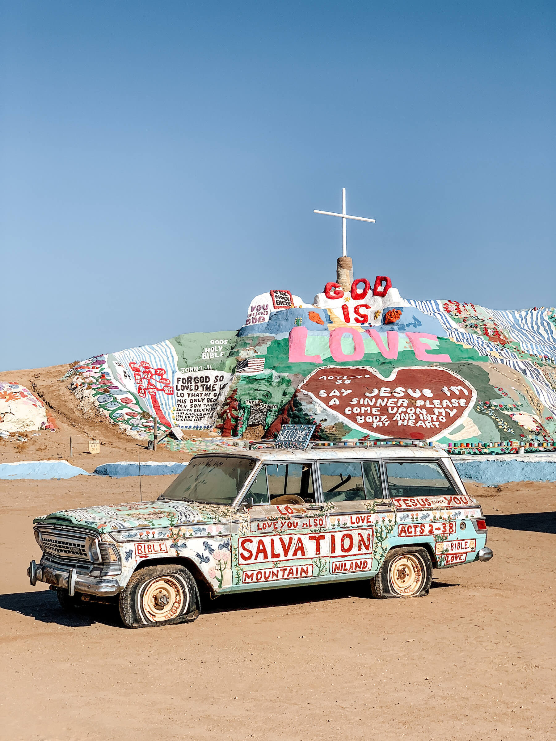 Salvation Mountain - méconnus incontournables Palm Springs - voyage en Californie